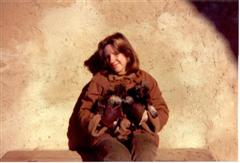 Nichi and the first Schnauzer litter in 1979